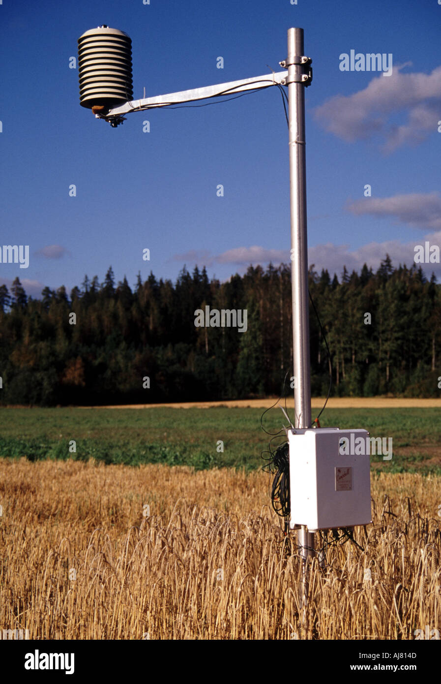 Automatic Weather Station Tampere Finland Stock Photo 1212748 Alamy