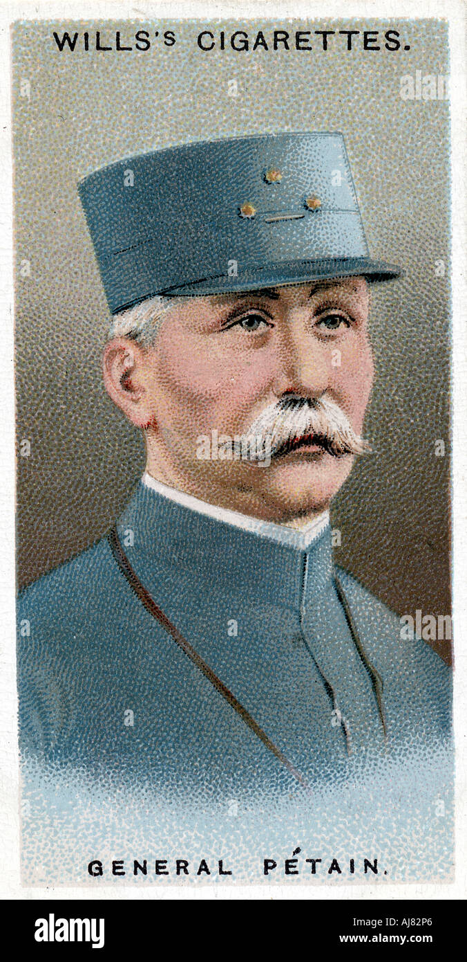 Henri Philippe Omer Petain, French soldier and statesman, 1917. Artist: Unknown Stock Photo