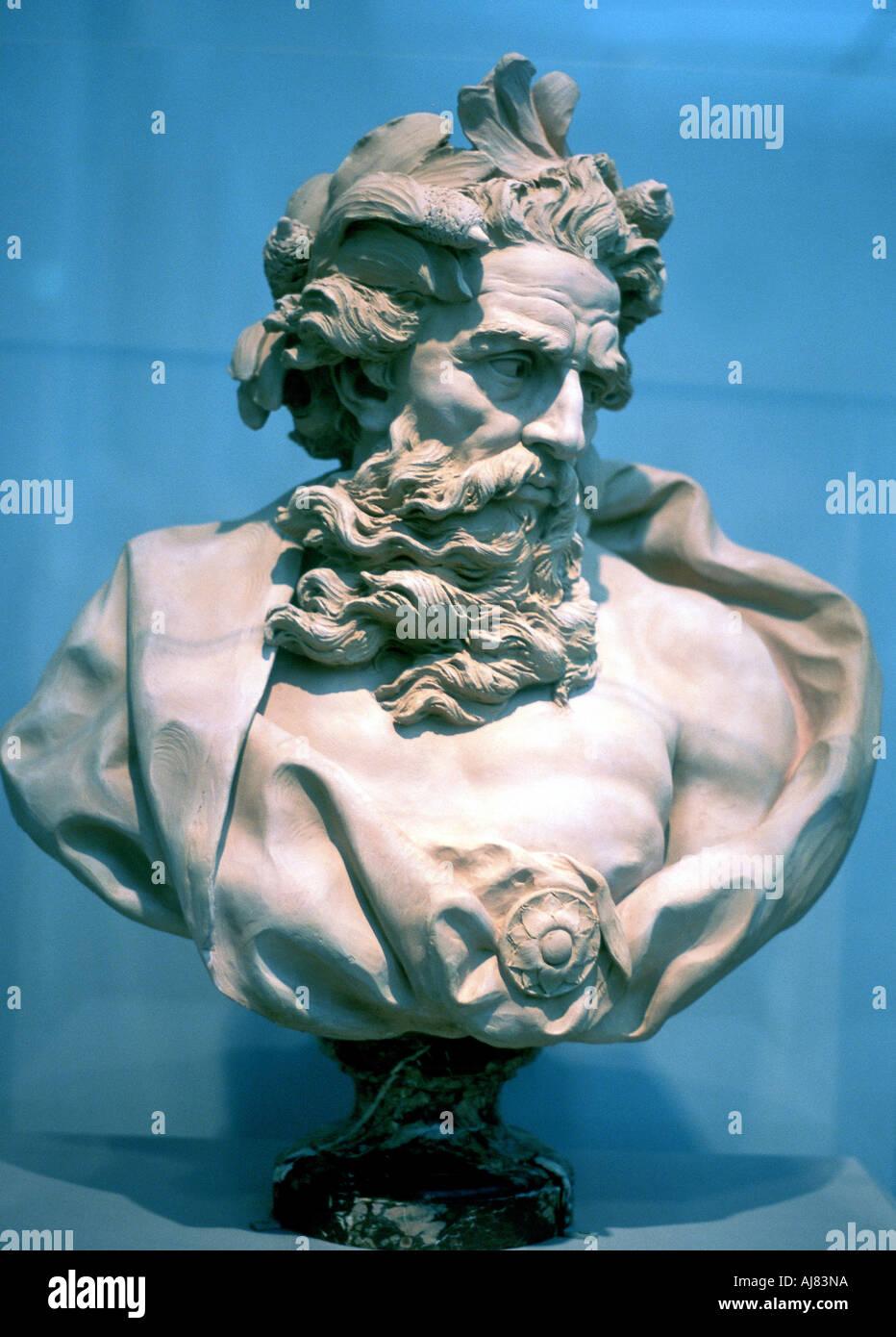 Neptune Roman god of the oceans  - Stock Image