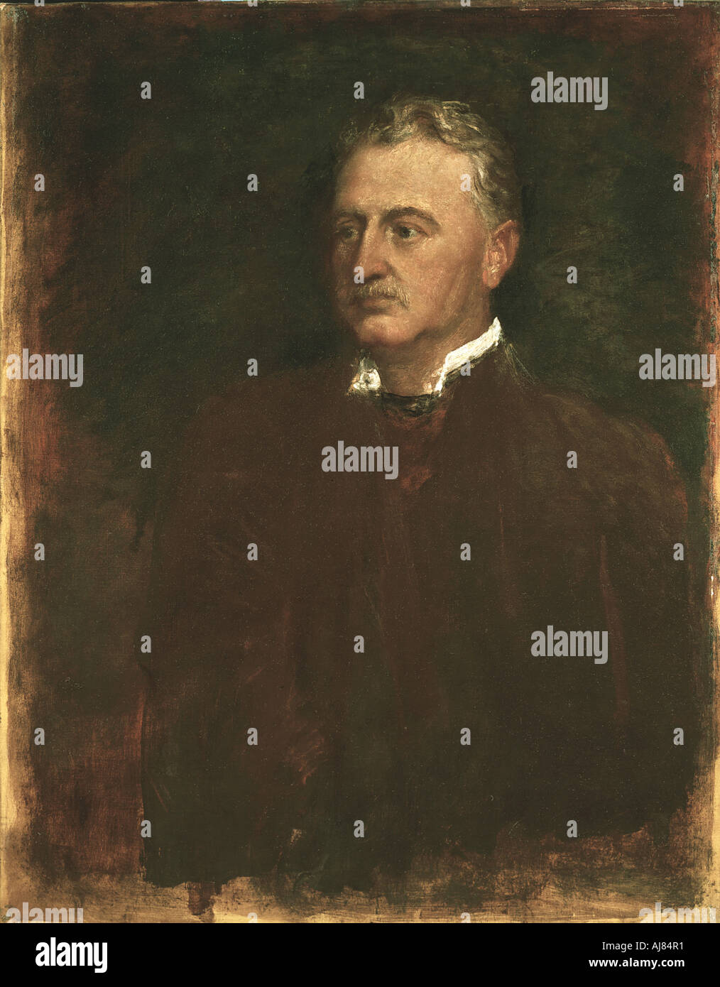 Cecil Rhodes English born South African statesman 1898  - Stock Image