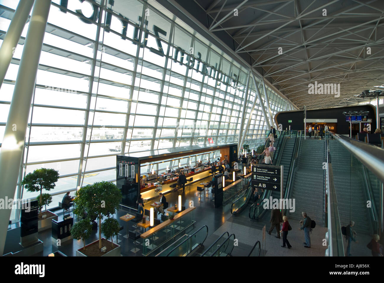 Airside Center, Fifth expansion, Zurich airport, Switzerland - Stock Image