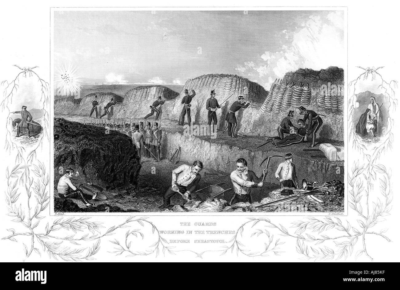 Siege of Sebastopol Crimean War 1854 1855  - Stock Image