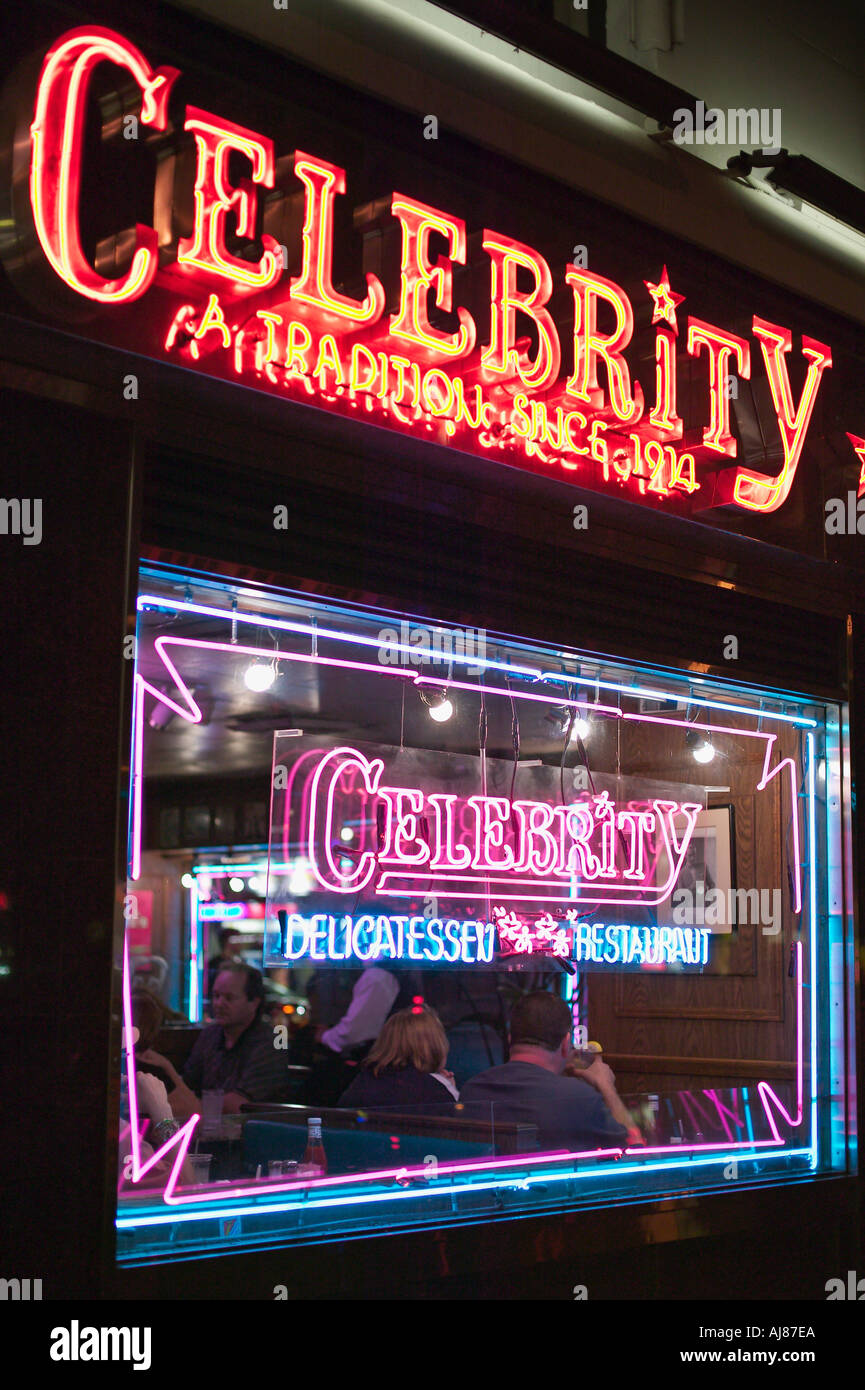 Celebrity Delicatessen on 8th Ave at 48th Street near Times Square in Midtown Manhattan New York NY - Stock Image