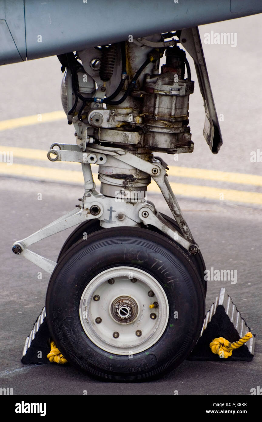 Fighter aircraft undercarriage - Stock Image