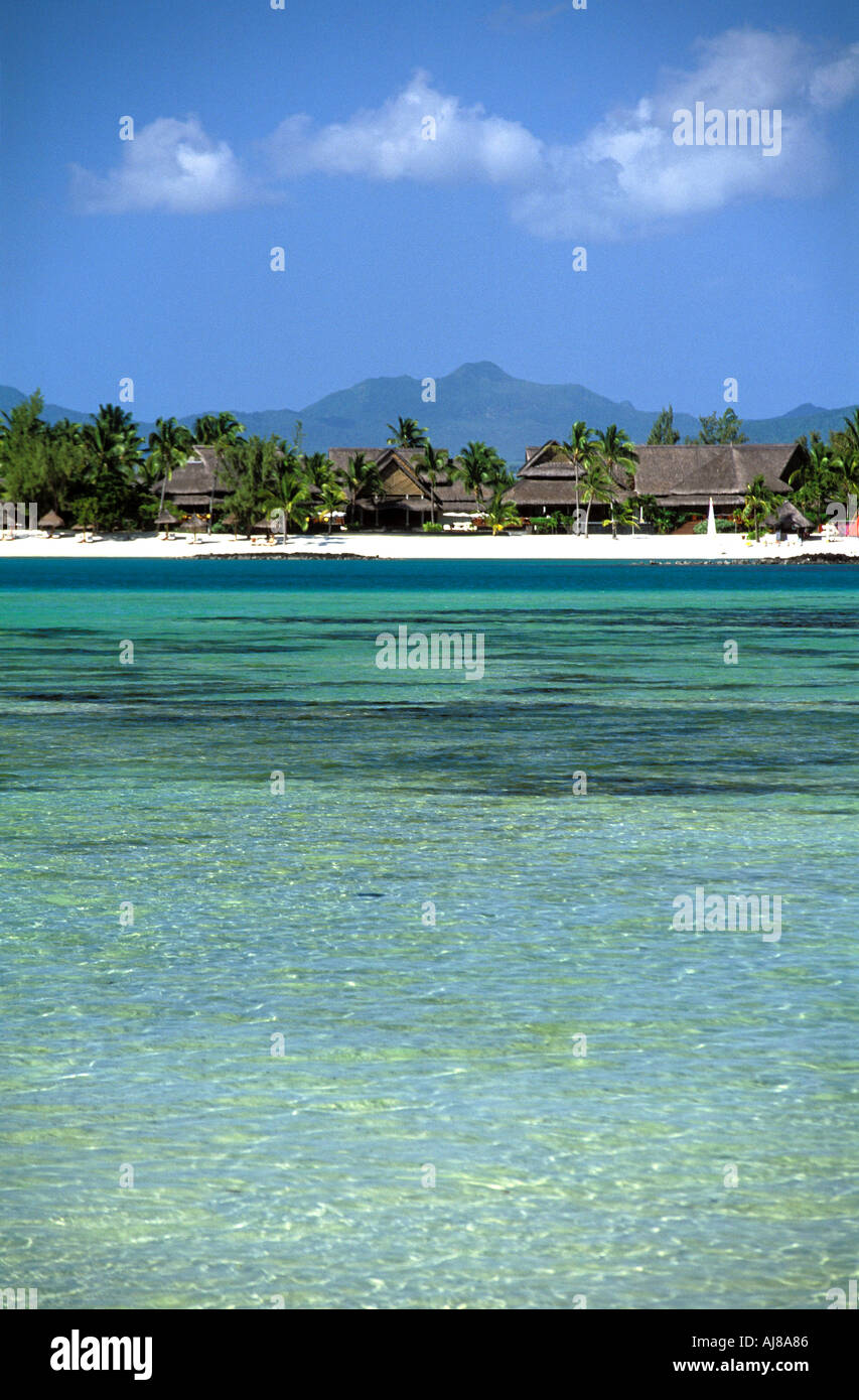Prince Maurice Luxury Hotel across Lagoon Mauritius Indian Ocean ...