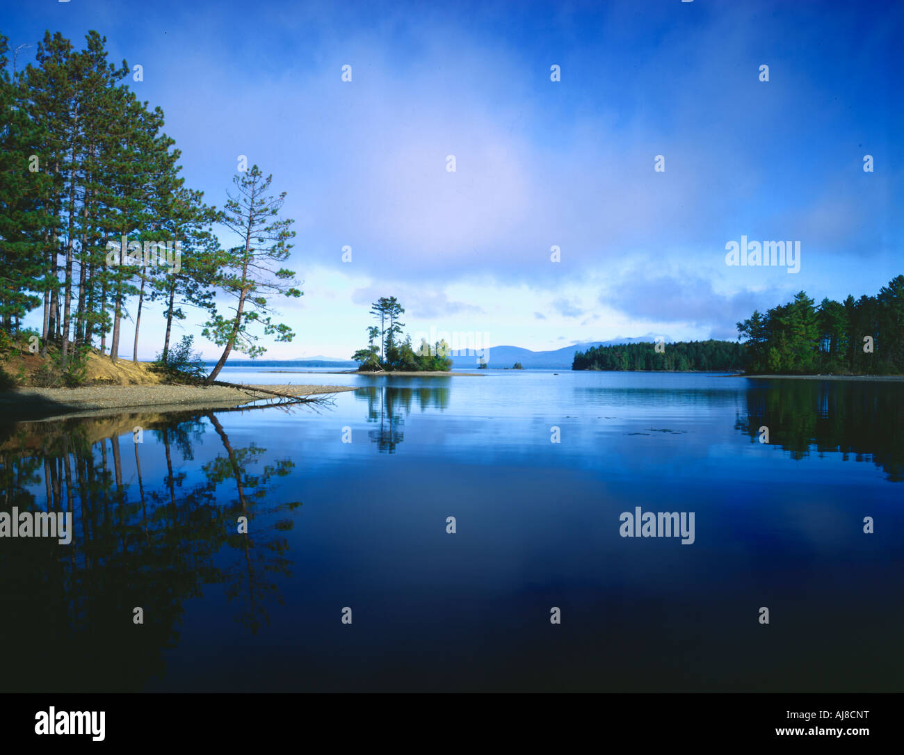 Moosehead Lake Lily Bay State Park Maine USA Stock Photo: 14655683 on