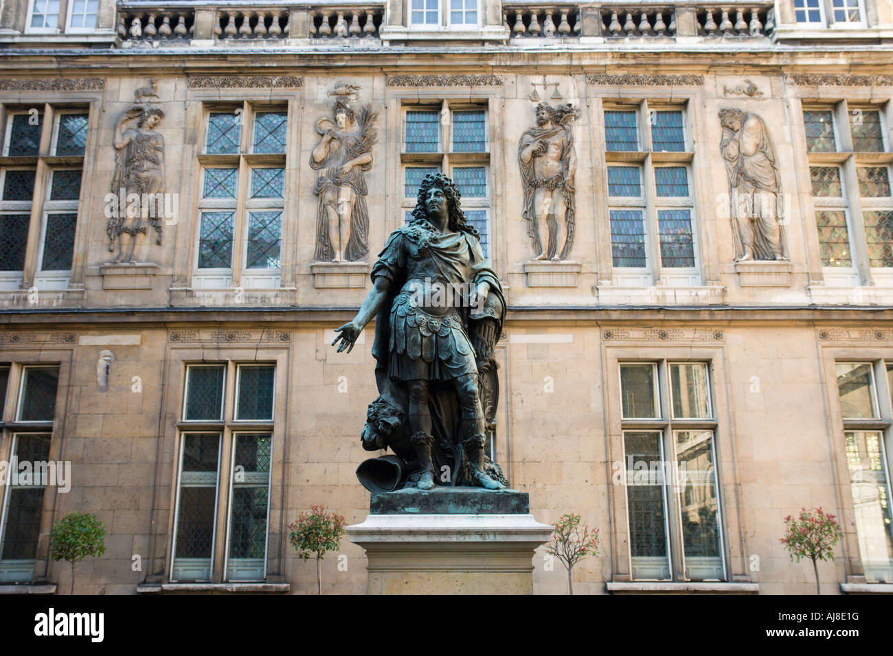 Statue of Louis XIV at  Musee Carnavalet Paris France - Stock Image