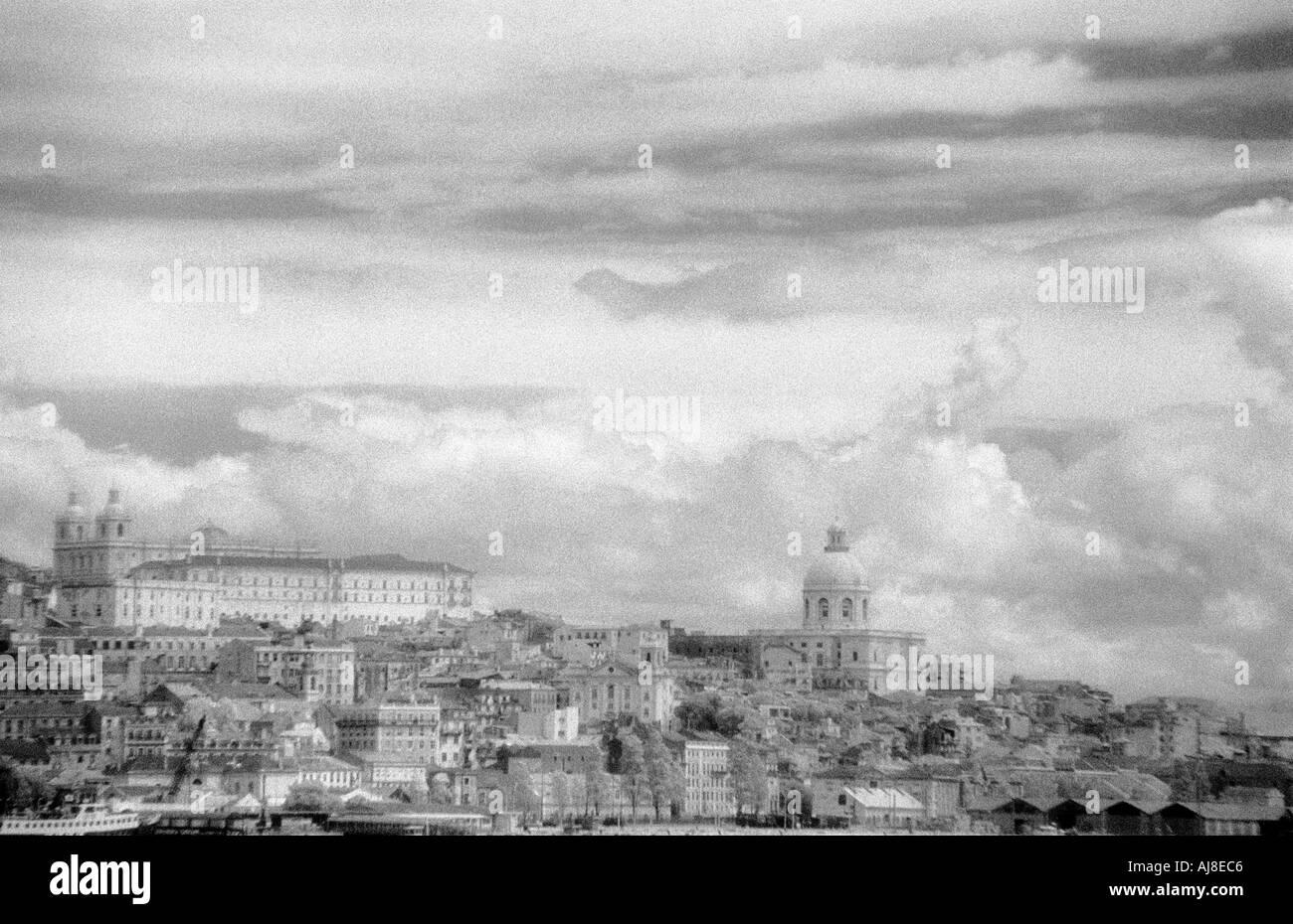Alfama taken from Tajo River, Lisbon, Portugal - Stock Image