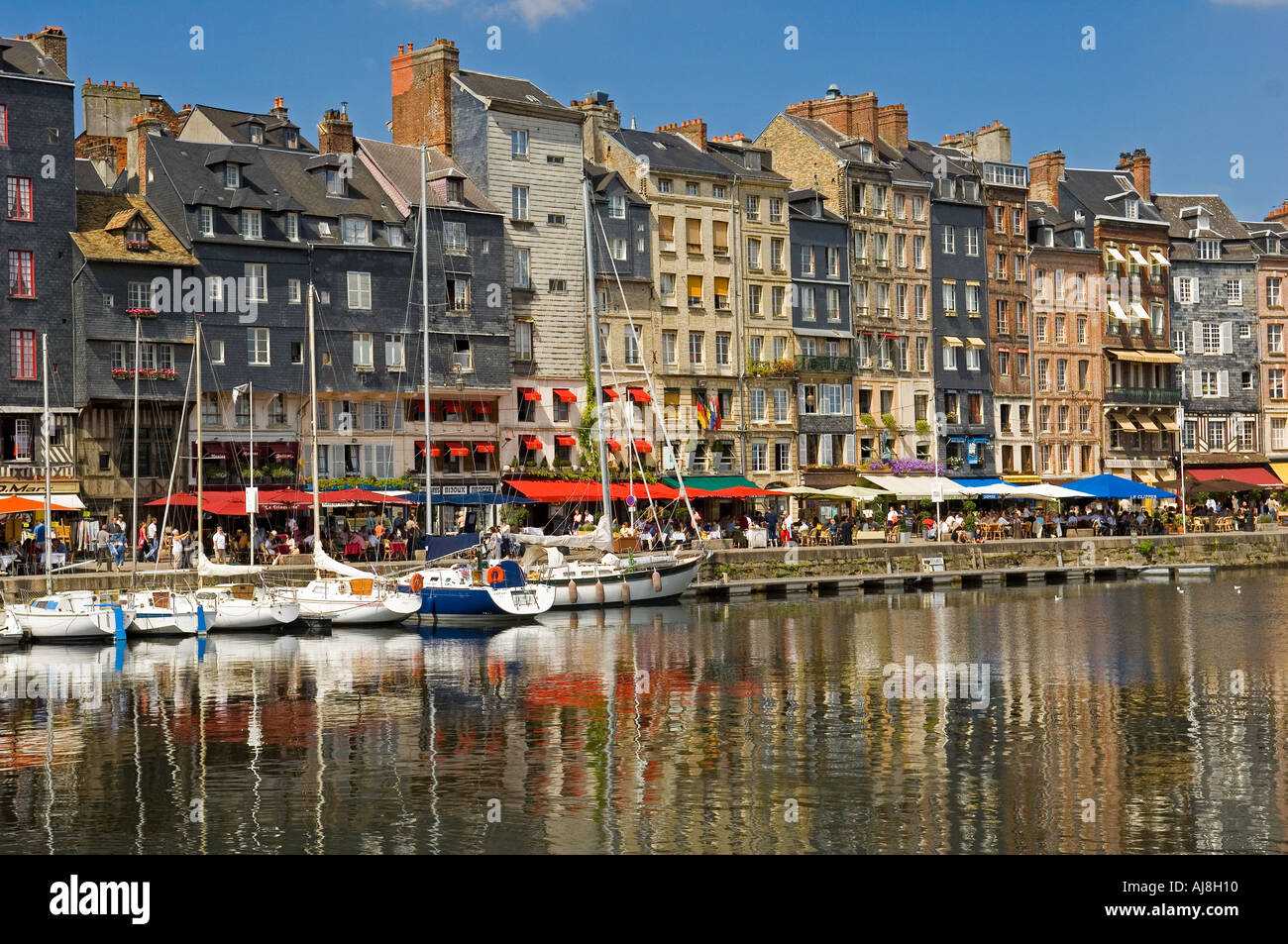 The old harbour Vieux Bassin Honfleur Stock Photo