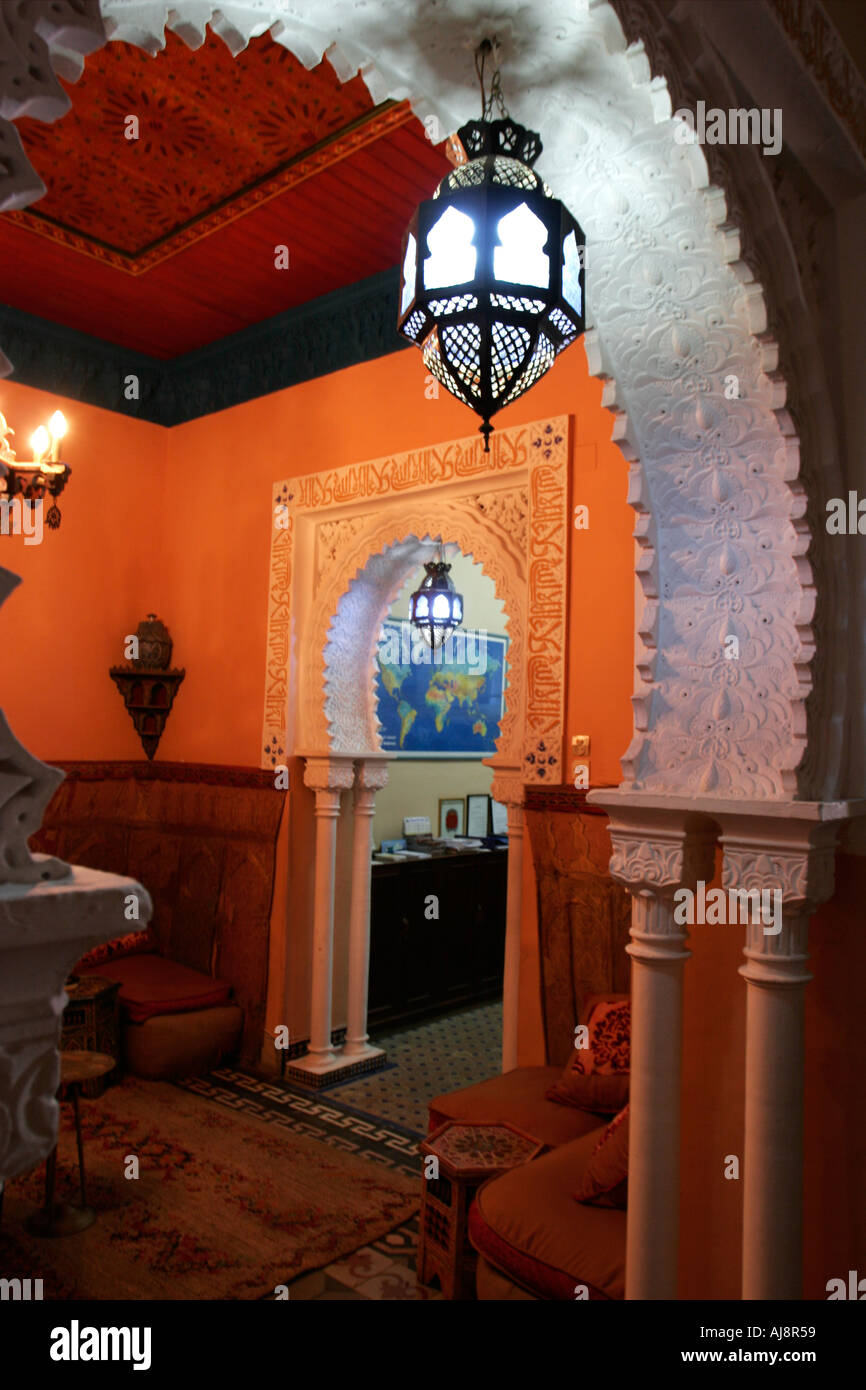 Interior Image Of A Colorful Moroccan Restaurant In Tanger Morocco Stock Photo Alamy