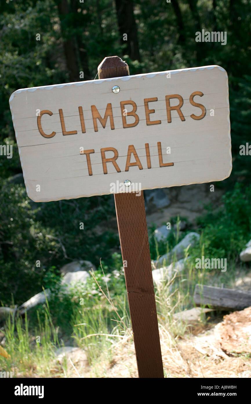 Rock climbing in southern California - Stock Image