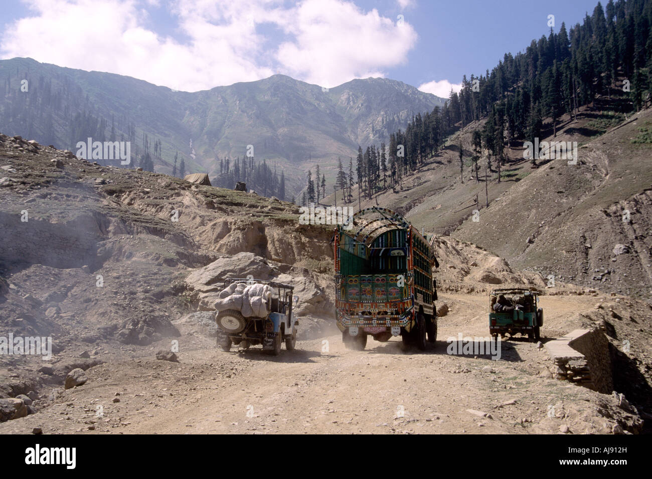Pakistan NWFP Tribal Area Chitral Valley - Stock Image