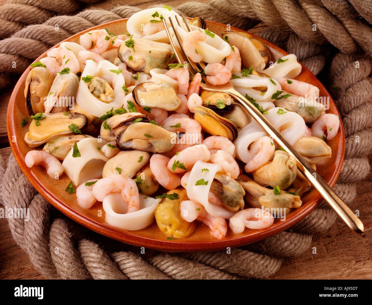 MIXED SEAFOOD MEDLEY Stock Photo - Alamy