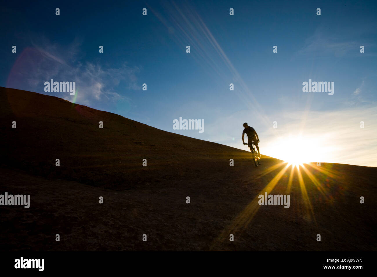 Mountain biker, Moab, Utah - Stock Image