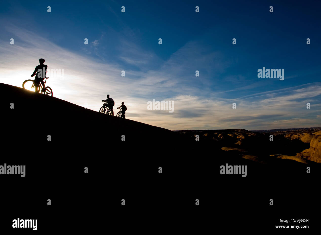 Mountain bikers, Moab, Utah - Stock Image