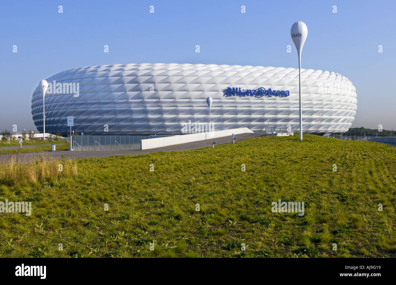 the famous Allianz Arena the stadium of BAYERN MUNCHEN Club  - Stock Image