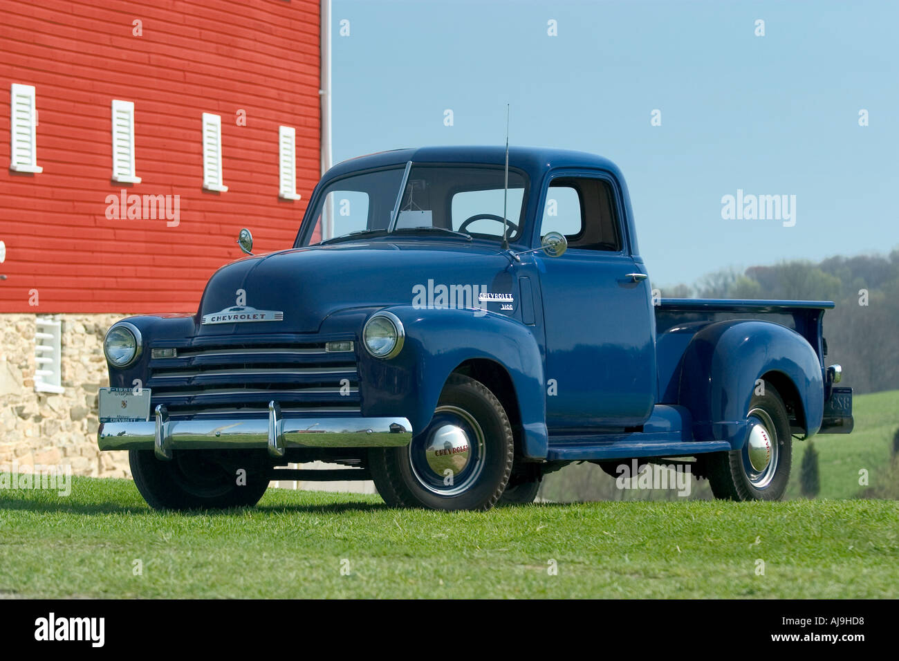Old Chevy Pickup Truck Stock Photo: 4787671 - Alamy