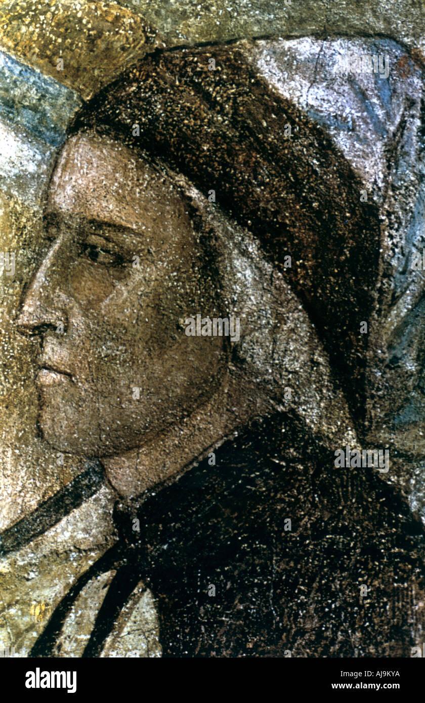 Portrait of Dante Alighieri c1287 1337  - Stock Image