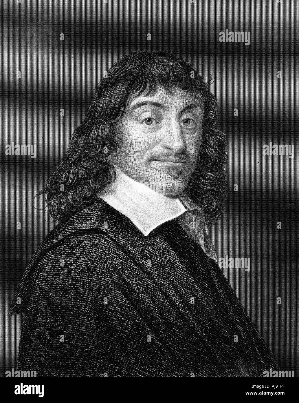 Rene Descartes, French philosopher and mathematician, 1835. Artist: Unknown Stock Photo