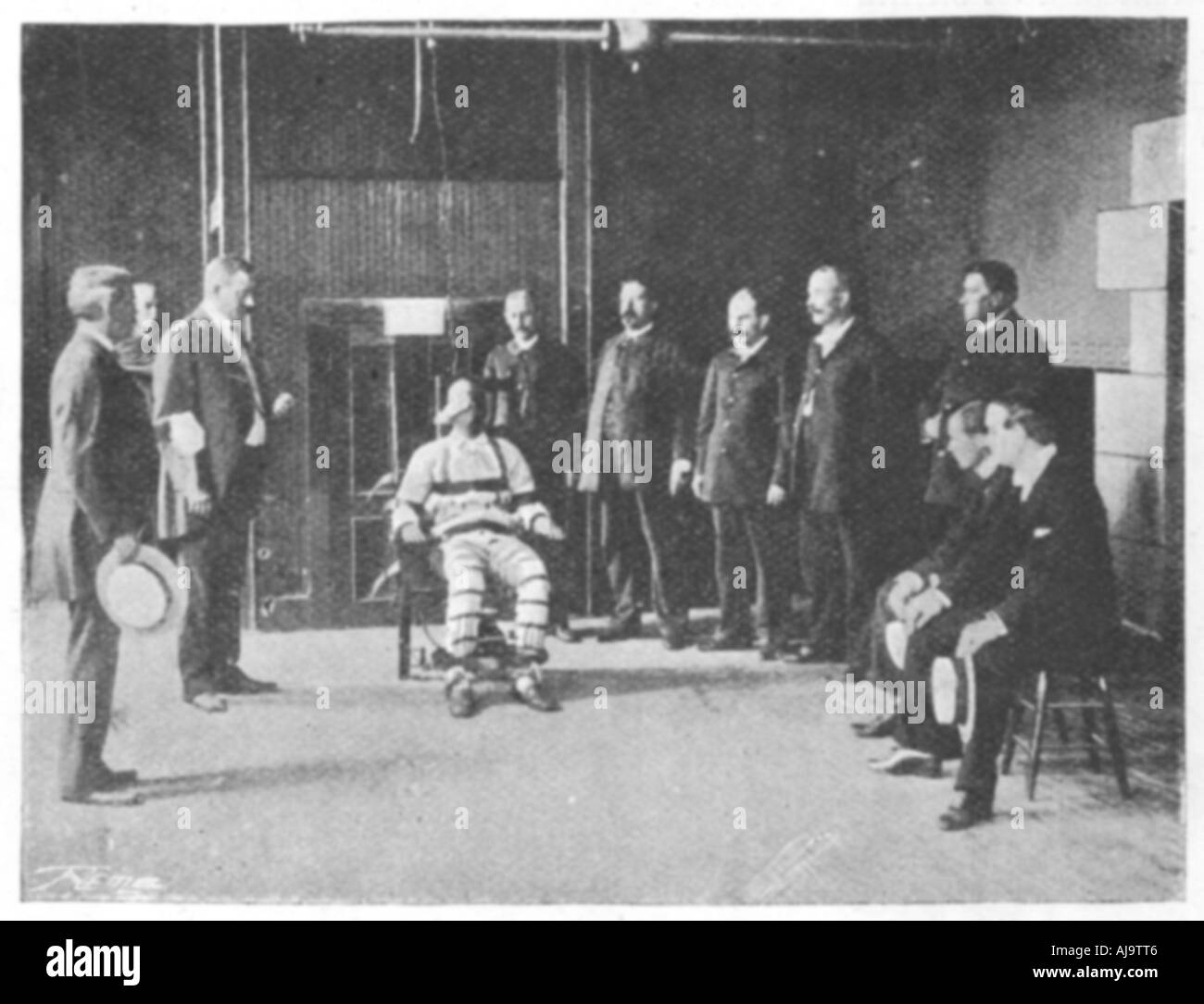 Execution By Electric Chair United States 1898 Stock Photo