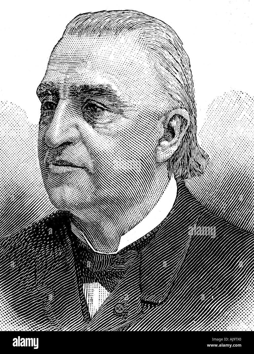 Jean Martin Charcot, French neurologist and pathologist, 1893. Artist: Anon - Stock Image