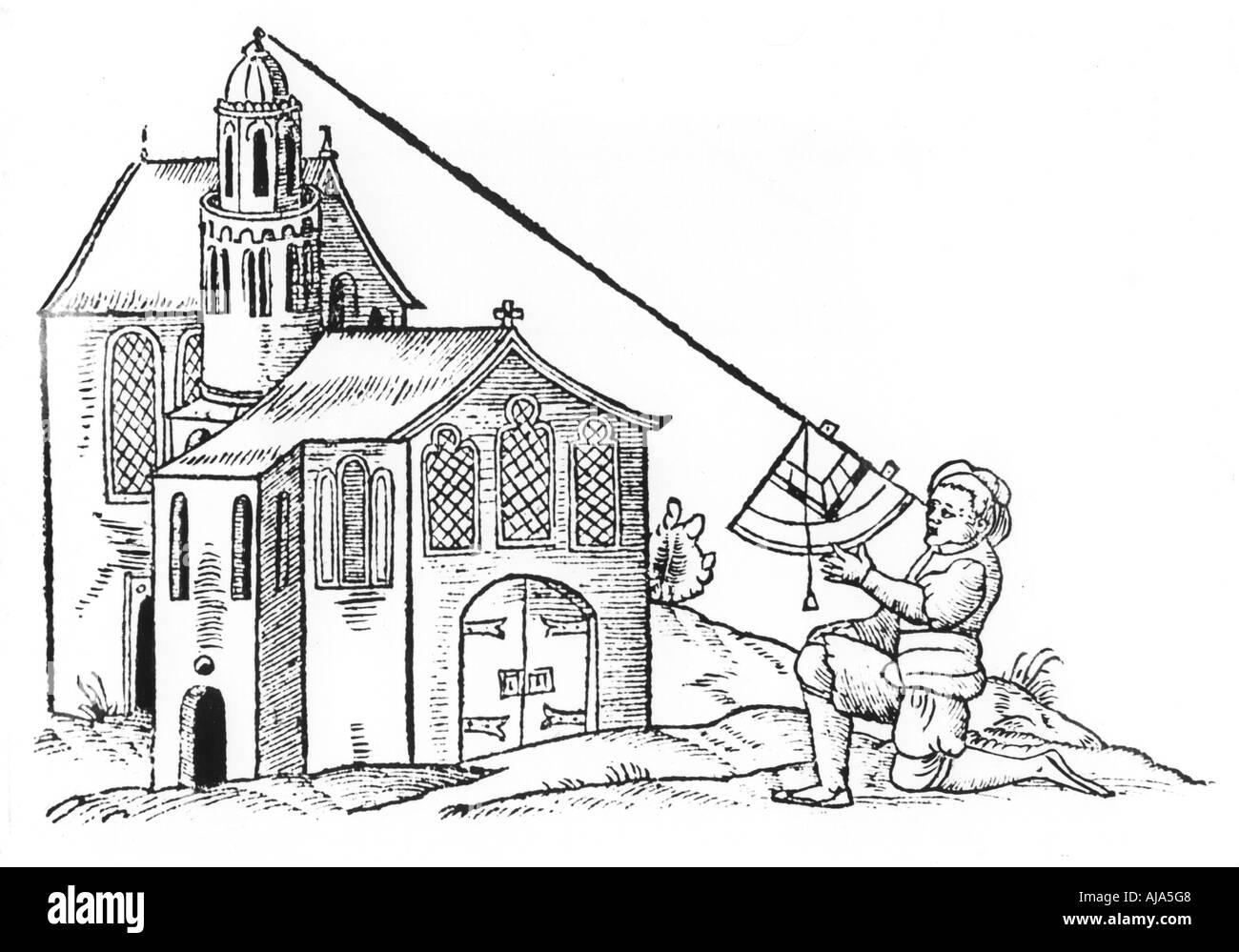 Surveying, 1551. Artist: Unknown Stock Photo