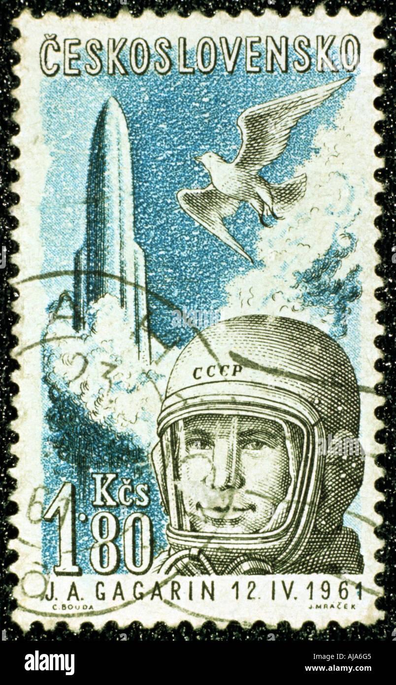 Yuri Gagarin Soviet Russian cosmonaut 1961  - Stock Image