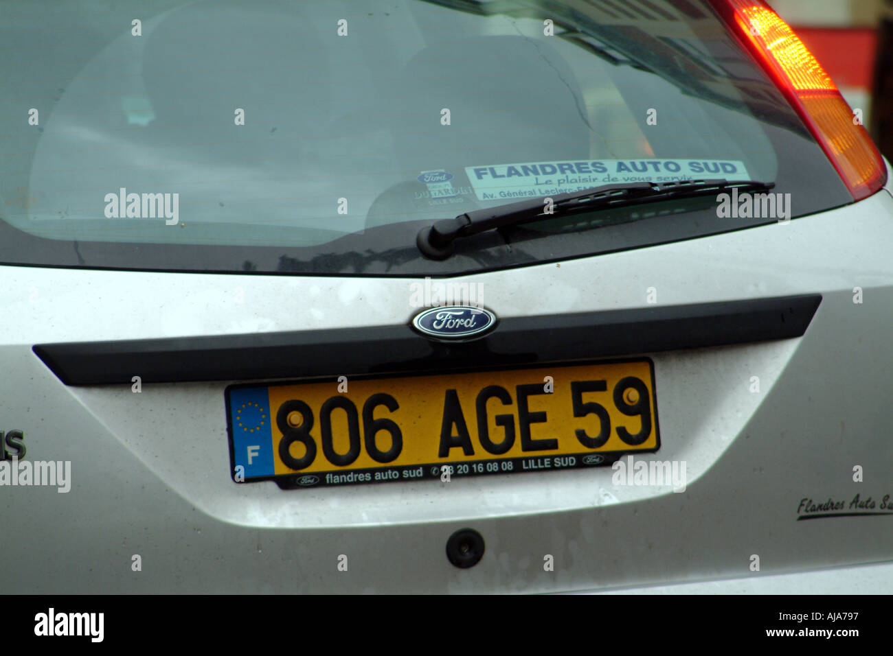 Lille France Europe French Ford Car Number Plate Age 59 Stock Photo