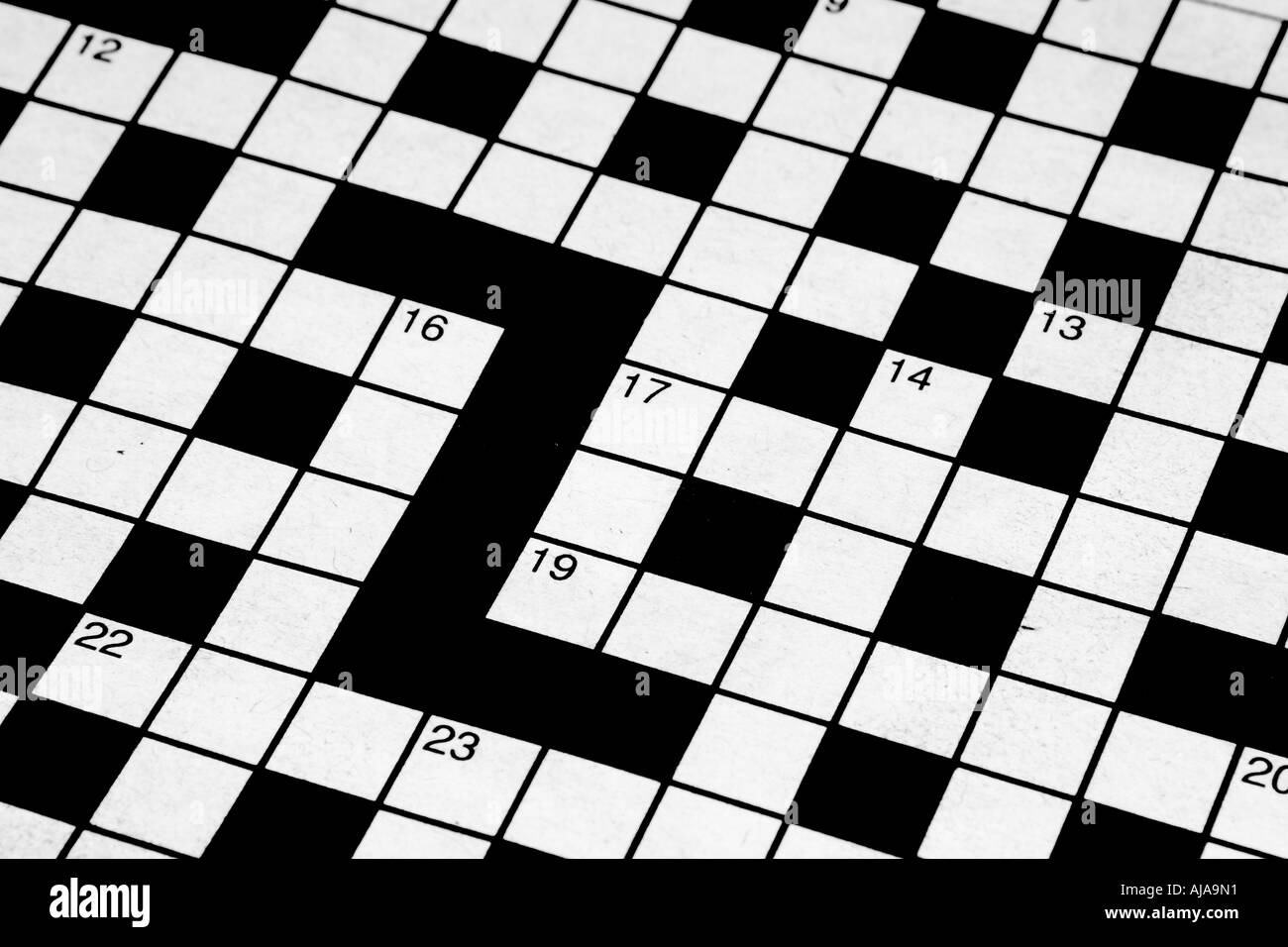 Detail Of A Blank Crossword   Stock Image