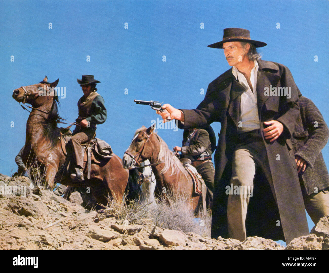 TAKE A HARD RIDE Lee Van Cleef in the 1975 film - Stock Image