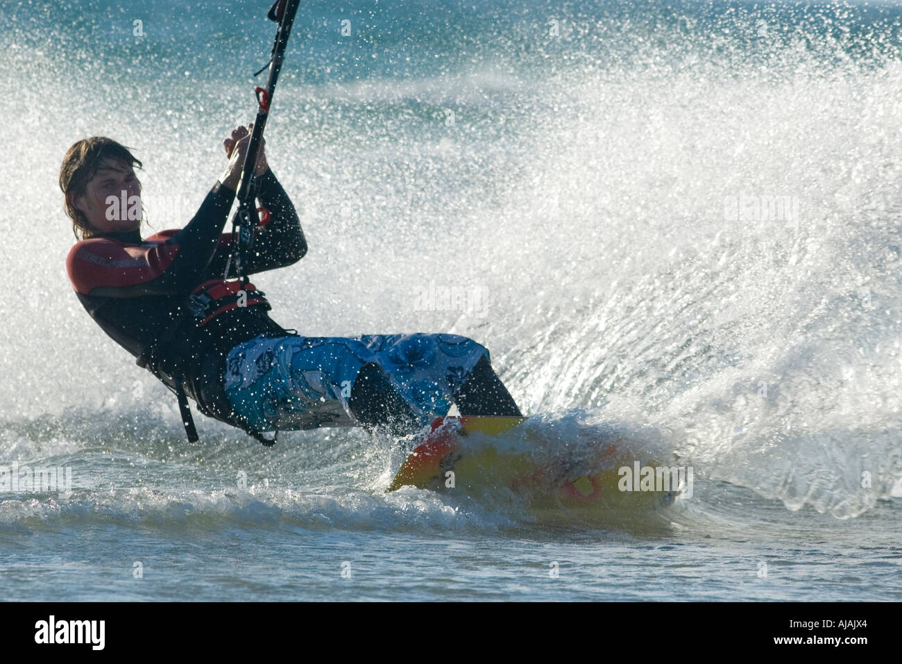 kitesurfer in action - Stock Image