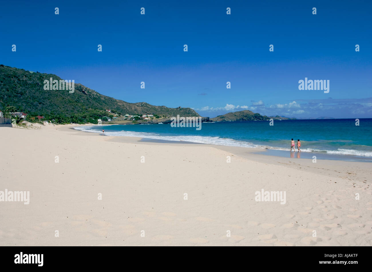 Saint Barthélemy French West Indies Flamand beach or Anse des Flamands is one of the best on the island Stock Photo