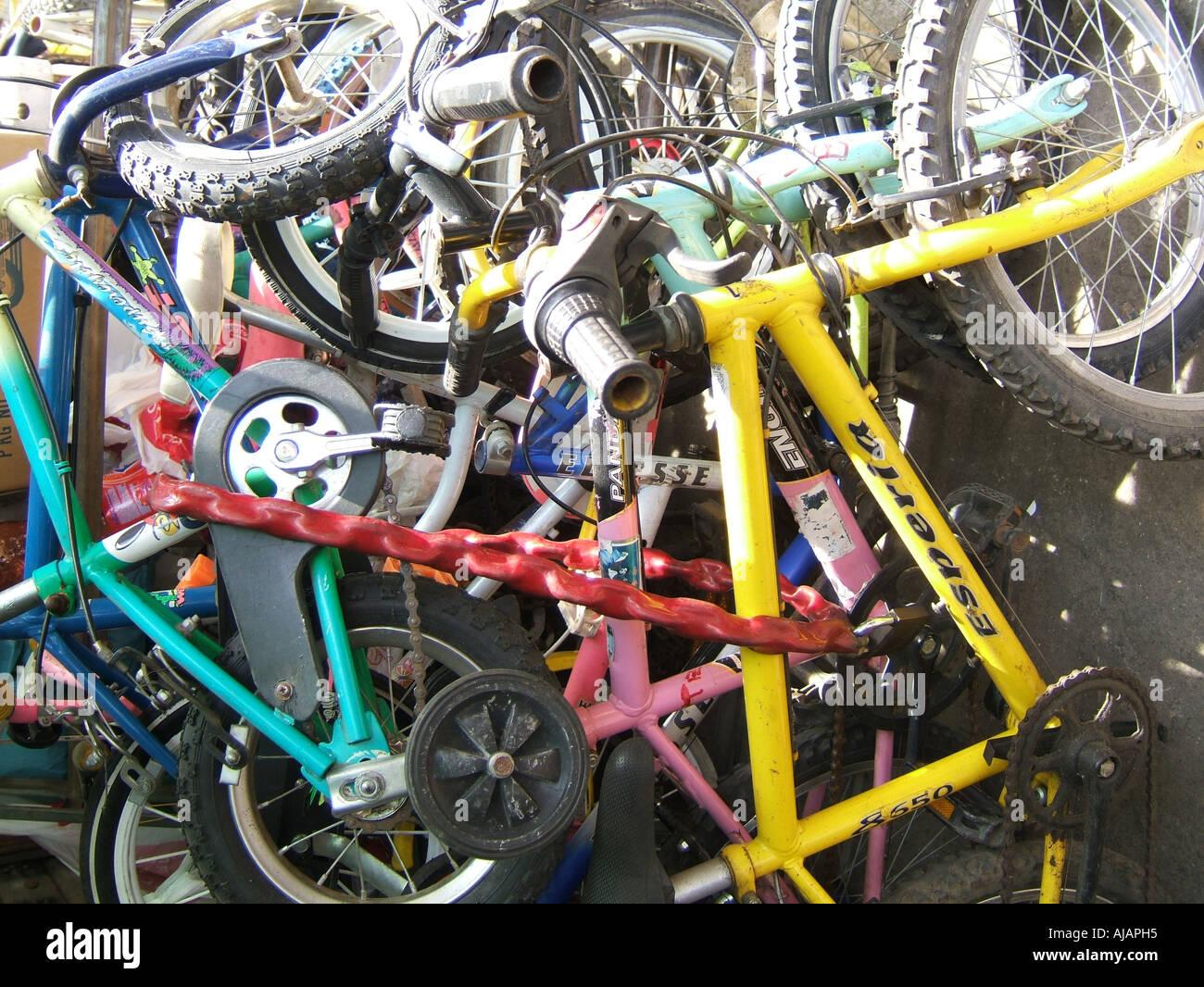 pile of second hand bikes Stock Photo: 8387220 - Alamy
