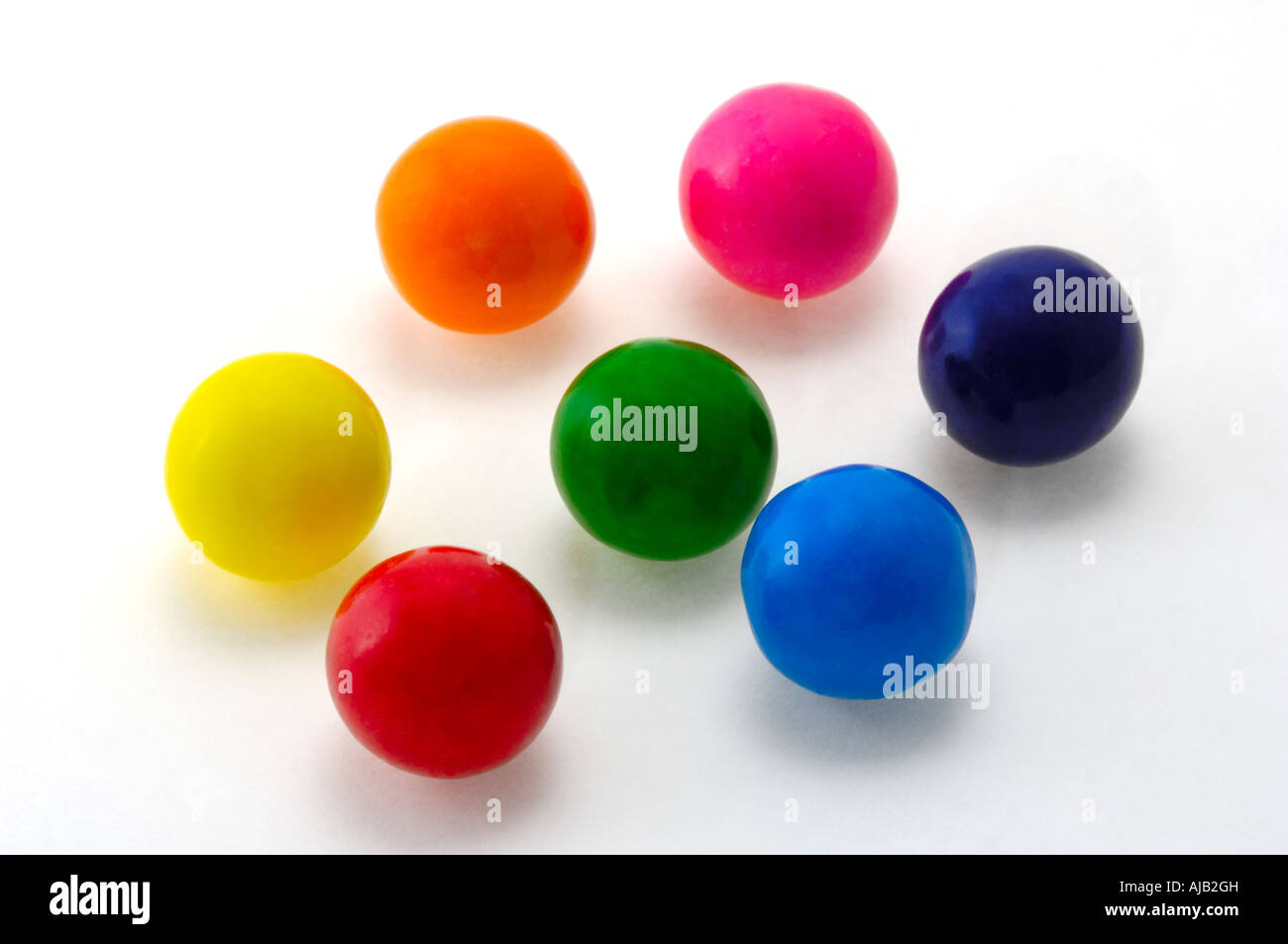 colorful gumballs - Stock Image