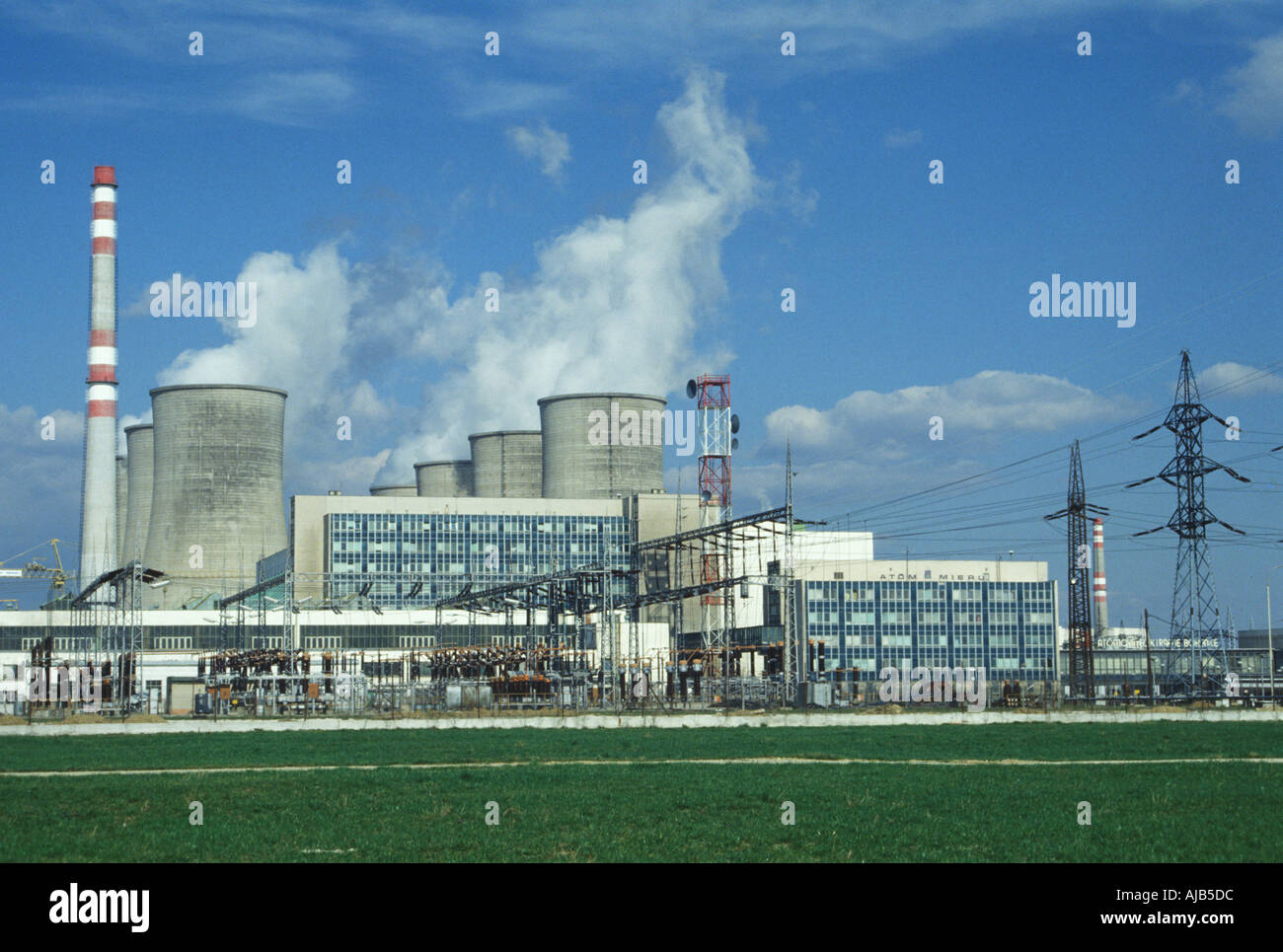 Power station Jaslovske Bohunice - Stock Image