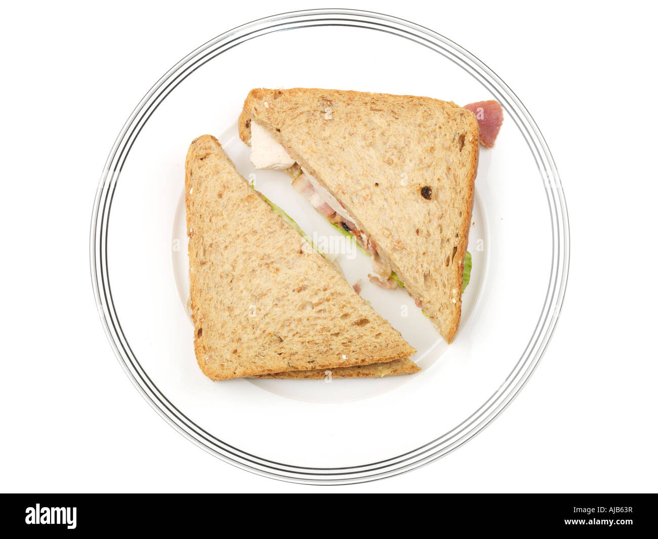 Chicken Bacon and Lettuce Sandwich - Stock Image