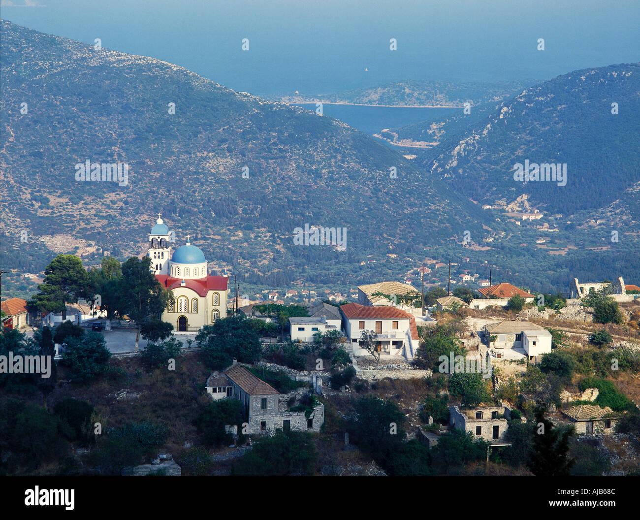 EXOGHI ITHAKI ITHAKA GREECE Europe Greece Ionian including Corfu - Stock Image