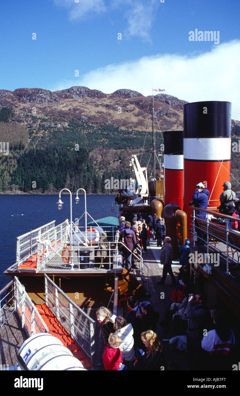 the clyde paddle steamer waverley in loch goil argyll scotland europe Stock Photo