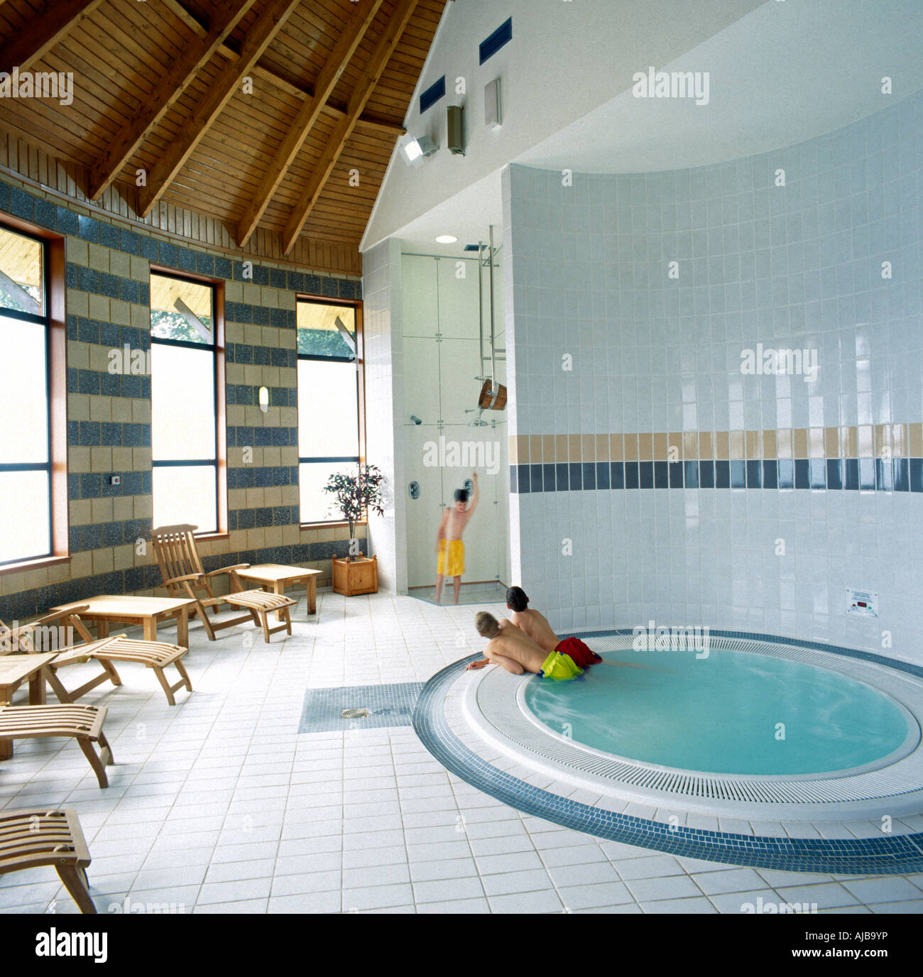 Swimming Pool Showering : Tadley stock photos images alamy