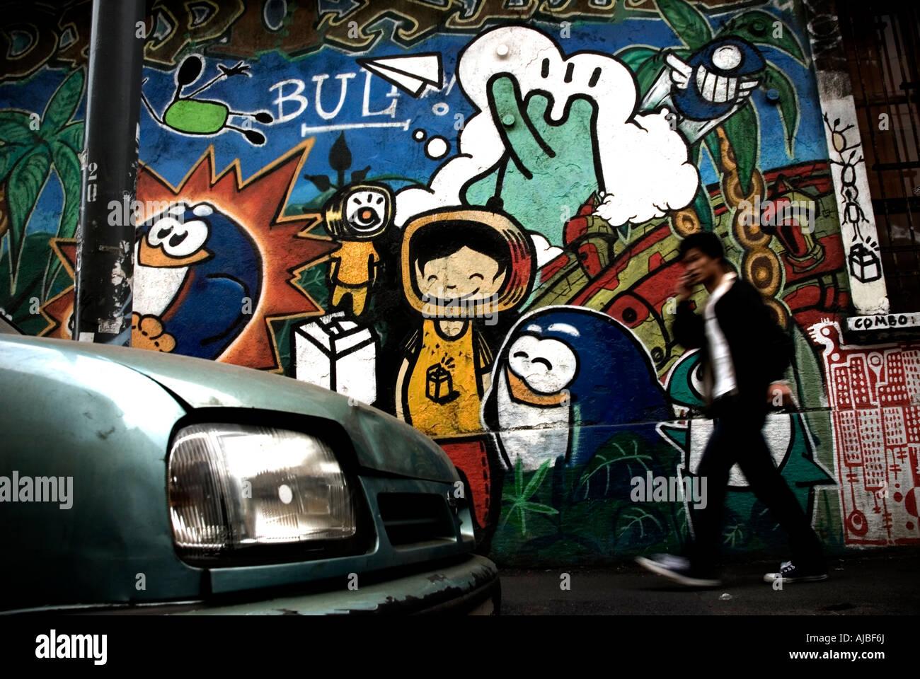 Italy, Milan. 2007. Sarpi quarter. Street art - Stock Image