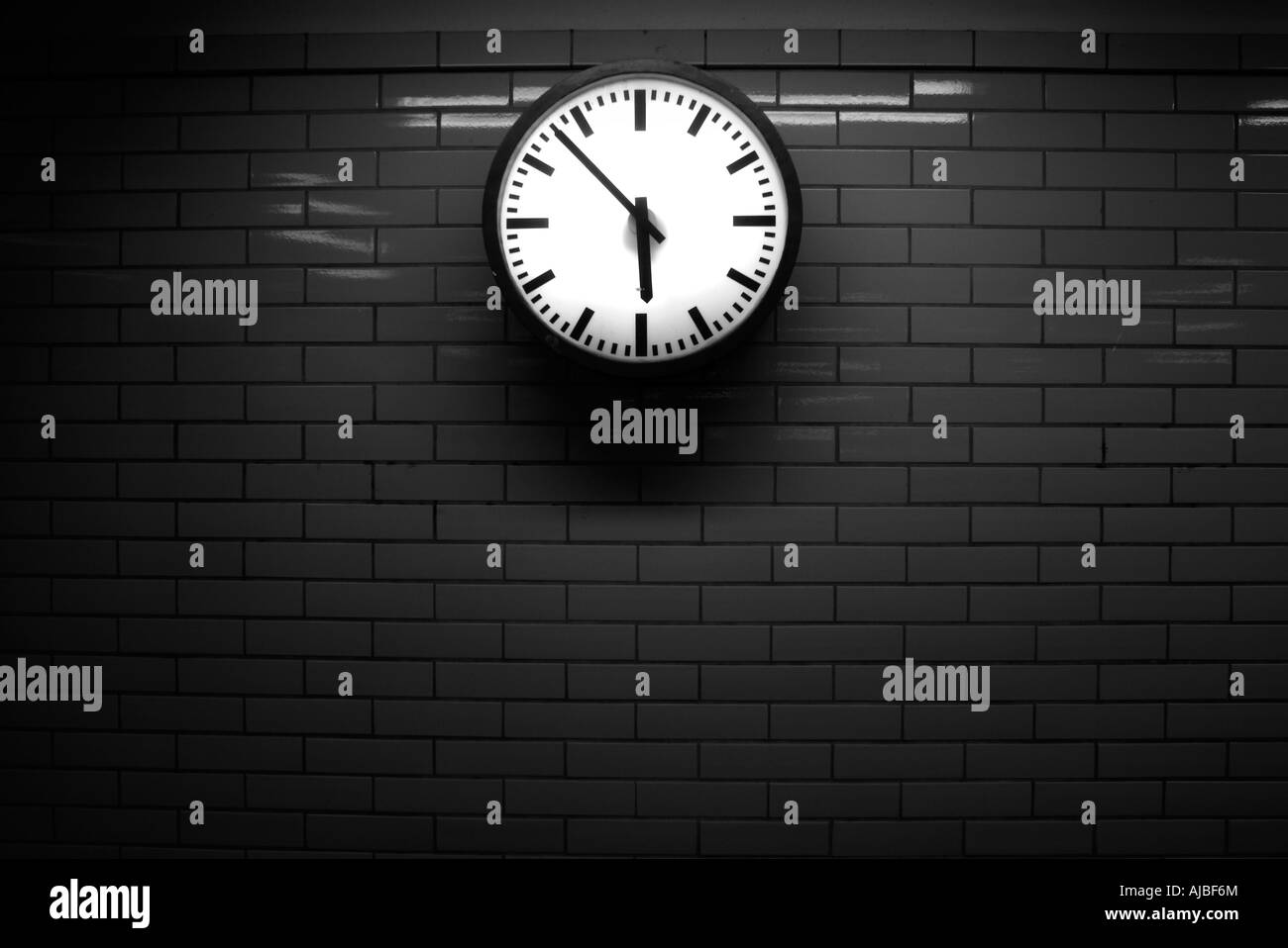Germany. Underground clock - Stock Image