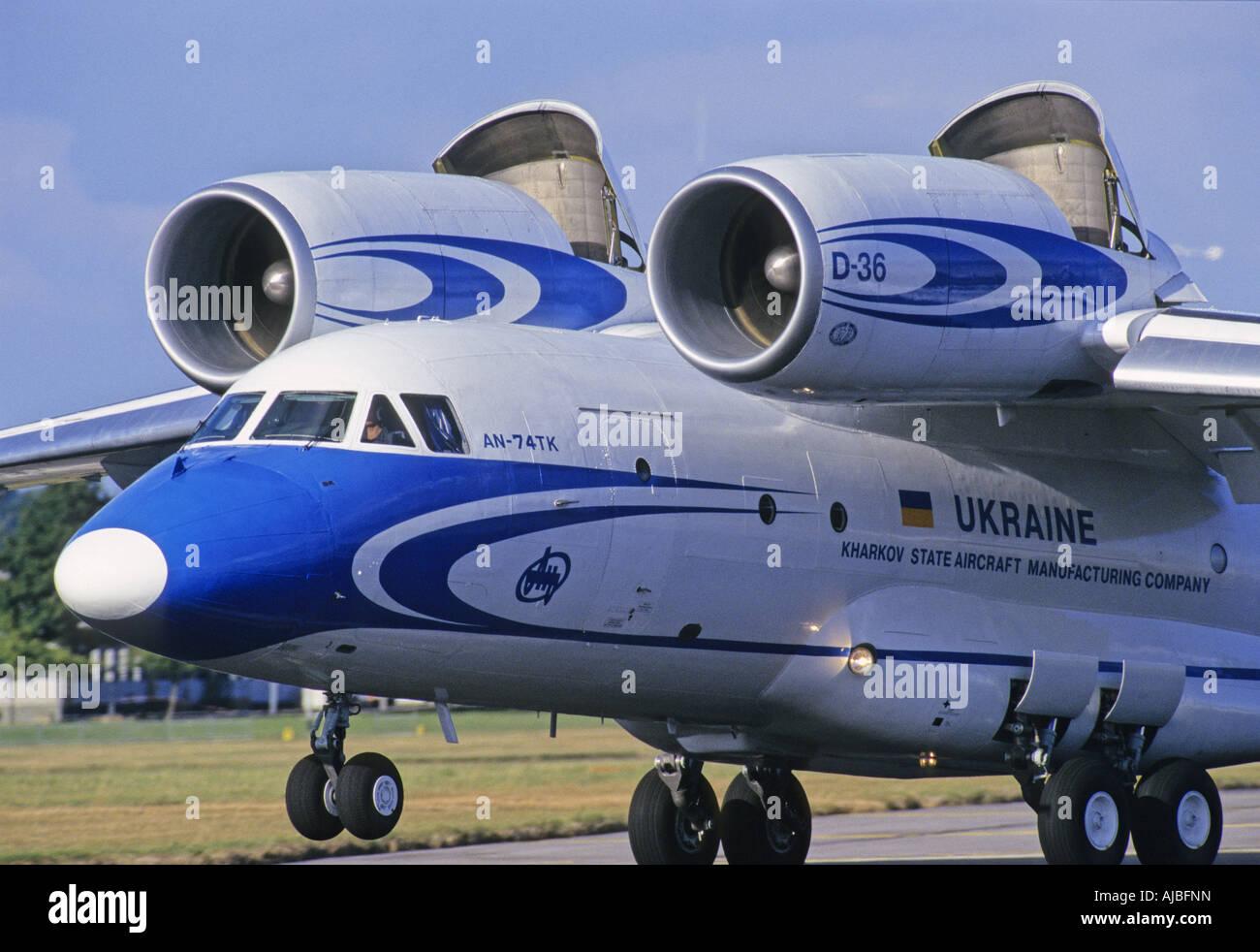 Antonov An74 military transport aircraft - Stock Image