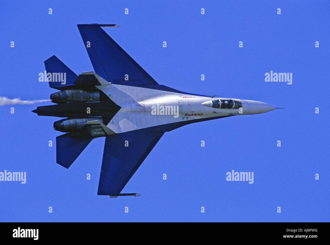 the sukhoi su 27 flanker jet fighter aircraft stock photo 14684955