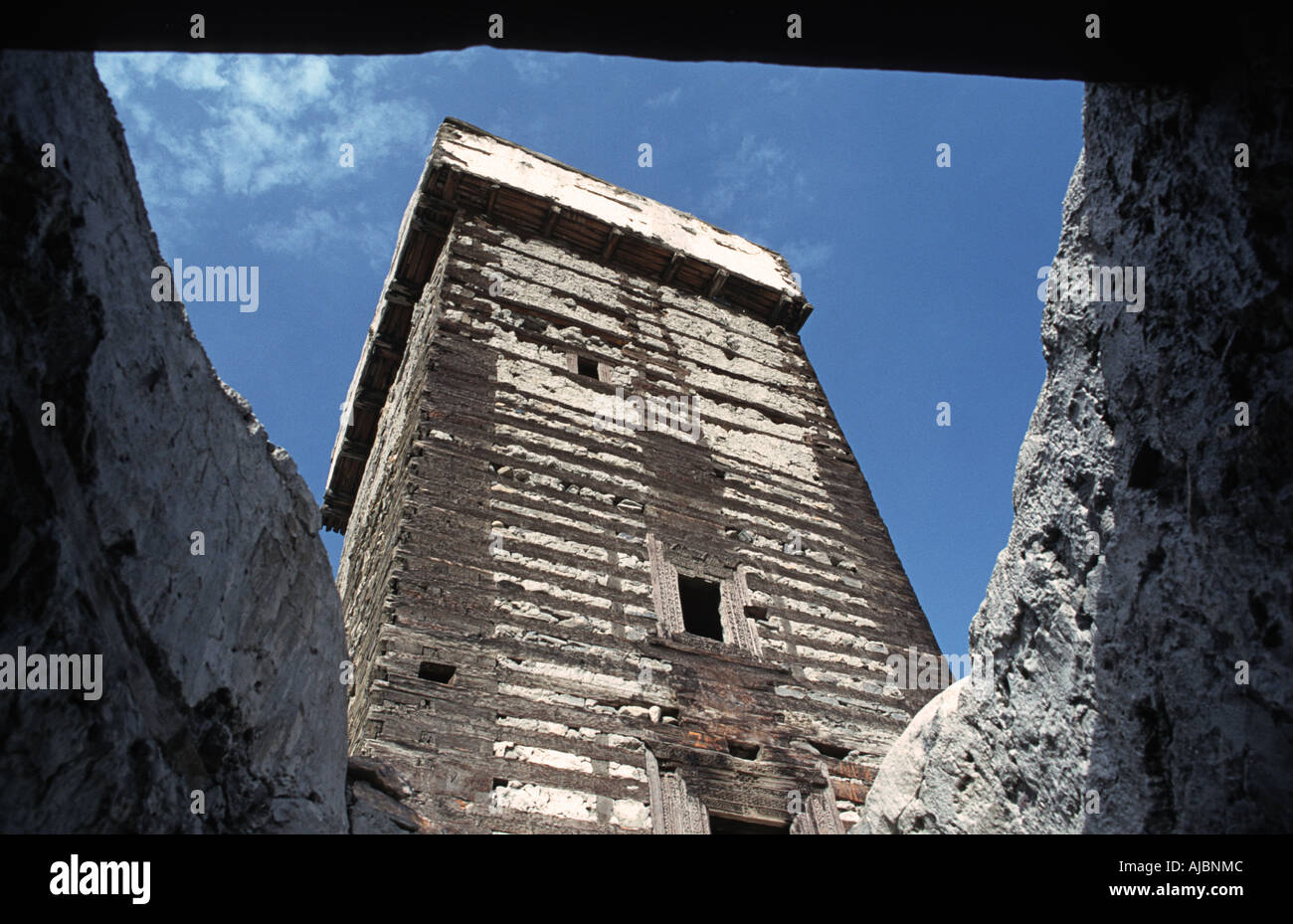PAKISTAN Altit Fort Karimabad Hunza Valley Karakoram Highway en route to China - Stock Image