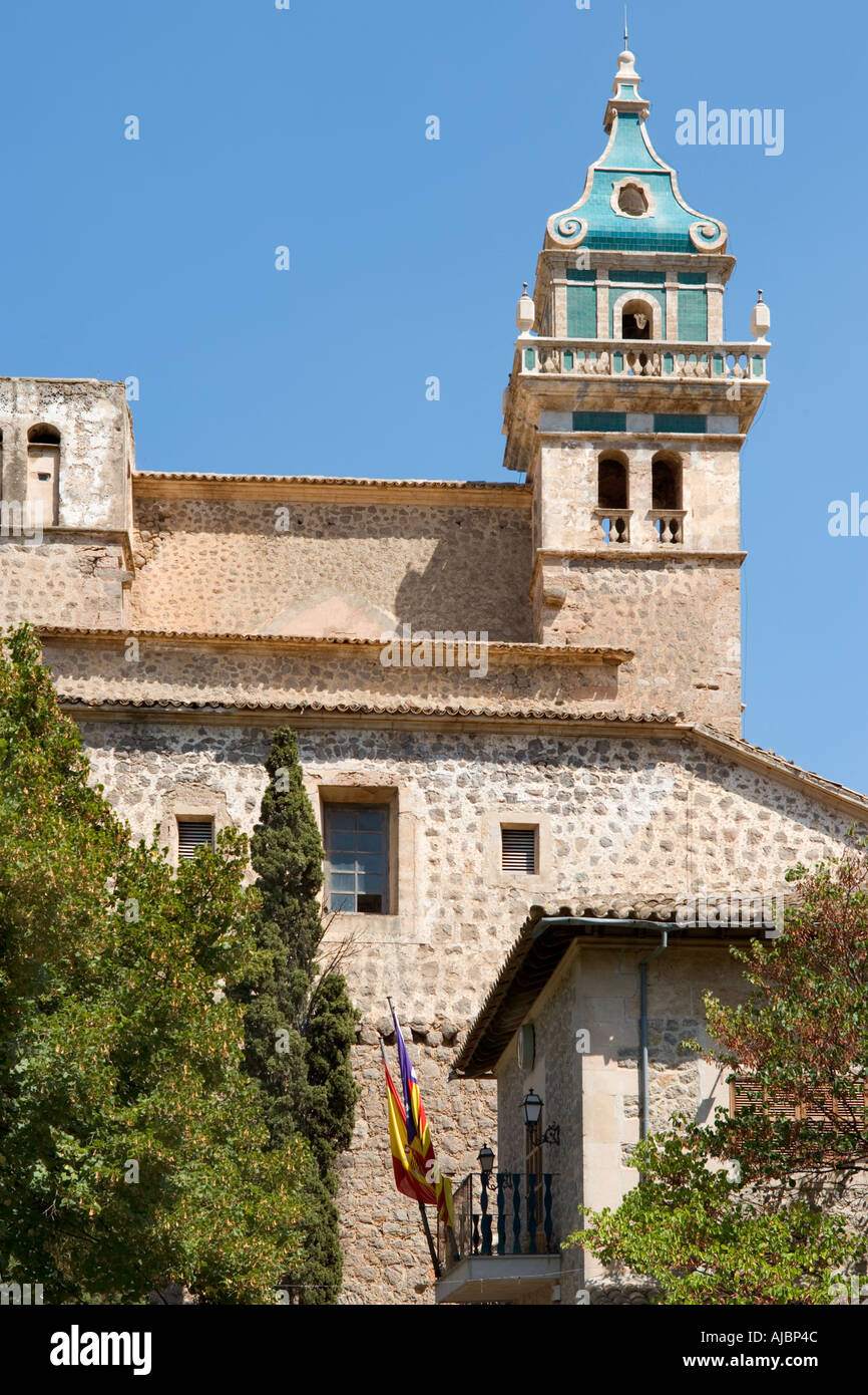 Real Cartuja de Valldemossa, Placa de Cartoixa, Old Town of Valldemossa, West Coast, Mallorca, Spain - Stock Image