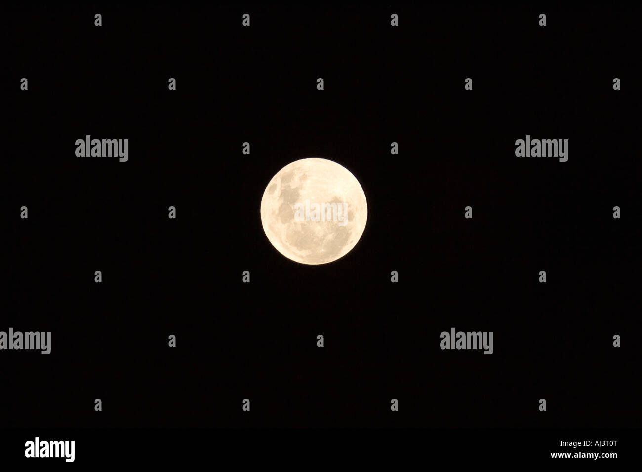 Full Moon in a Black Sky - Stock Image