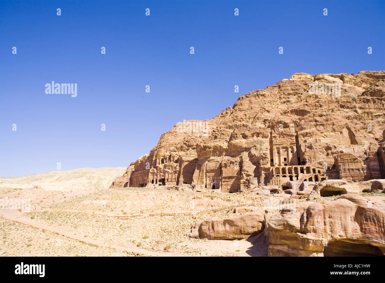 Low Angle View of Archaeological Remains Stock Photo