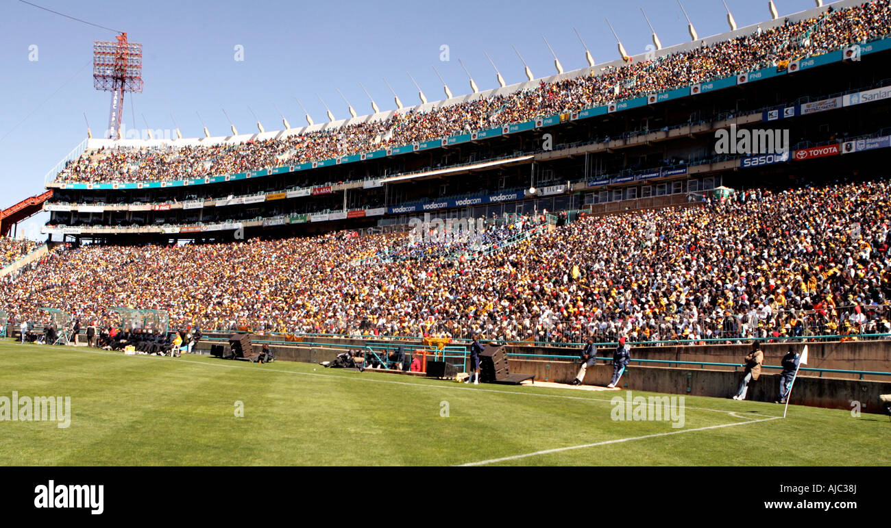 South African Soccer Fans - Crowd Shot - Stock Image
