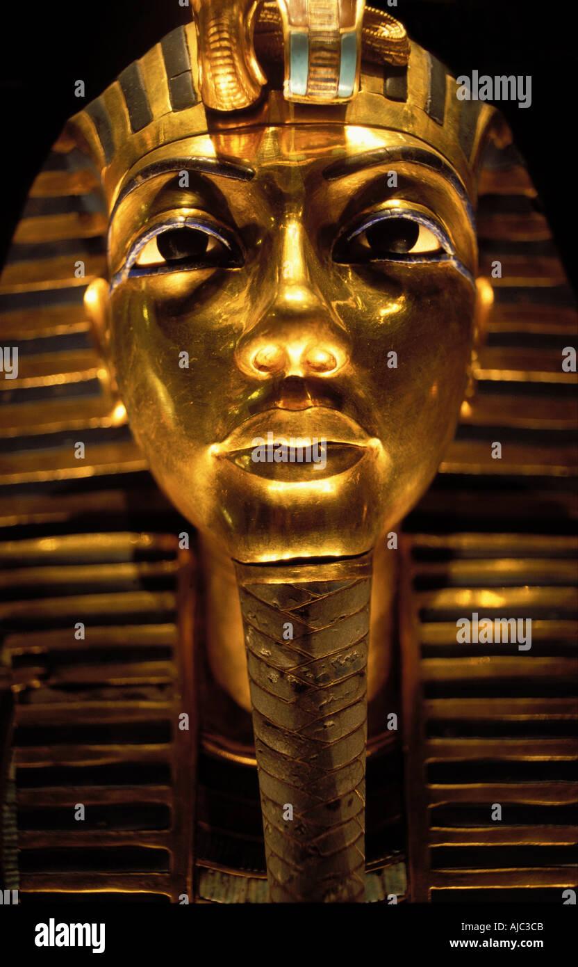 Tutankhamun s golden Death Mask Cairo Egypt Stock Photo