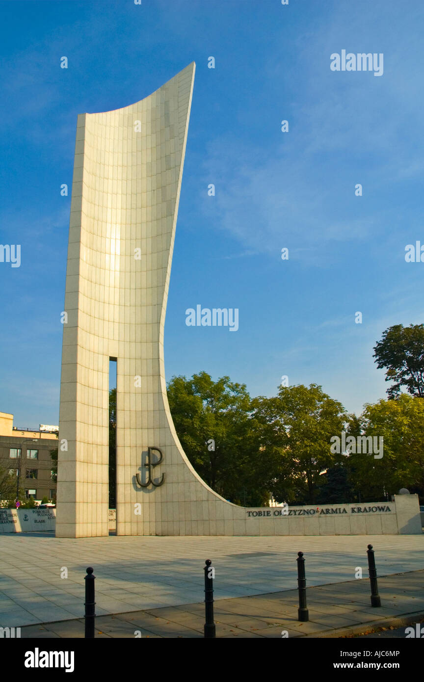 Monument for underground resistance central Warsaw Poland EU Stock Photo